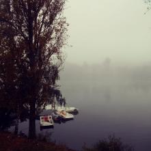 River Under Fog