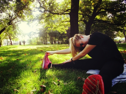 Backpacking can be hard on the body. Luckily we found the perfect park for a little R&R and stretching!