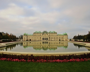 The Belvedere is actually a complex of buildings, including two Baroque palaces, an Orangery, and Palace Stables. This is the Upper Belvedere, a lovely setting to take in some Austrian art--including the world's largest collection of works by Gustav Klimt.