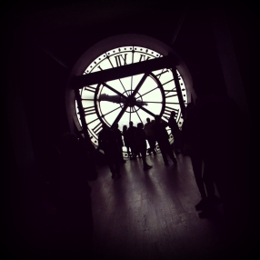An inside view of the clock tower at the Musée d'Orsay.