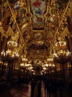 "We went to the ballet one night at the opulent Palais Garnier (also known as the Opéra de Paris), the setting of ""The Phantom of the Opera."""