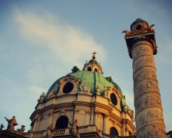 One of the many beautiful churches in Vienna.