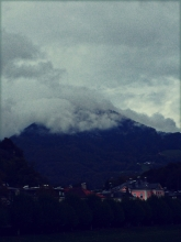 There was some really nice cloud action going on around the mountains in Salzburg.