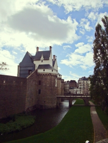 The local castle in Nantes, former home of the rulers of Britanny.