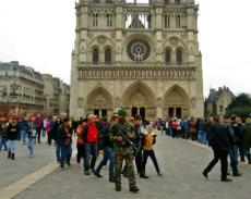 Big guns at Notre Dame Cathedral.
