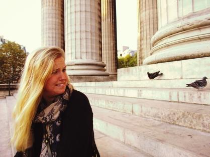 Bottom line: Sarah isn't a fan of pigeons.
