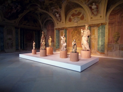 A beautiful collection of sculptures in the Medieval wing of the Upper Belvedere.