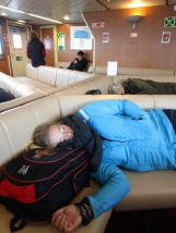 Naps were required during the 2.5-hour ferry ride, to ward off sea-sickness.