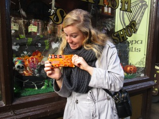 We've been searching throughout Europe for one of our favorite fall treats- CANDY CORN! We finally found some in Dublin!