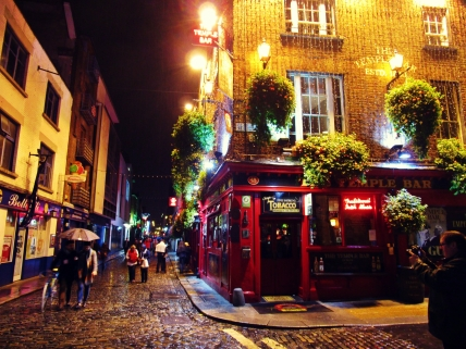 The legendary Temple Bar (without the Halloween crowds)