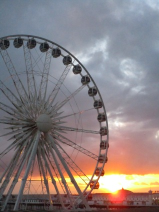 We took a day trip to Brighton one day, and were treated to the beach and a beautiful sunset.