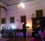 We were treated to an evening of classical music, Christmas carols, and poetry readings in the ballroom.
